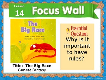 Journeys First Grade Lesson 14 Focus Wall (Editable)