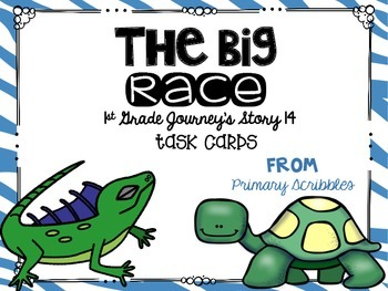 Journey's First Grade Lesson 14 The Big Race Phonics and Vocab Task Cards