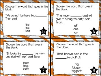 Journey's First Grade Lesson 15 Animal Groups Phonics and Vocab Task Cards