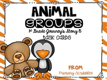 Journey's First Grade Lesson 15 Animal Groups Phonics and