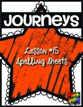 Journeys First Grade Lesson 15 Spelling