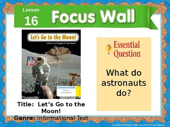 Journeys First Grade Lesson 16 Focus Wall (Editable)