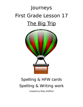 Journeys First Grade Lesson 17