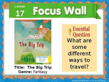 Journeys First Grade Lesson 17 Focus Wall (Editable)