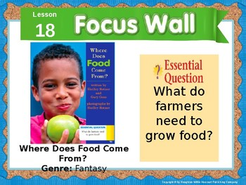Journeys First Grade Lesson 18 Focus Wall (Editable)