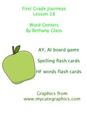 Journeys First Grade Lesson 18 Word Centers