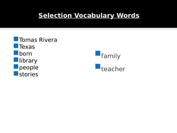 Journey's-First Grade-Lesson 19--Thomas Rivera-Voc & Sp ppt.