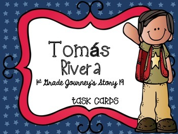 Journey's First Grade Lesson 19 Tomás Rivera Phonics and Vocabulary Task Cards