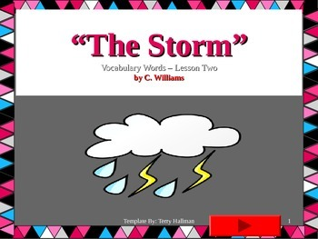 Journey's-First Grade-Lesson 2-The Storm-Flashcard ppt.