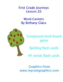 Journeys First Grade Lesson 20 Word Centers