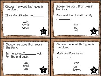 Journey's First Grade Lesson 21 The Garden Phonics and Vocabulary Task Cards