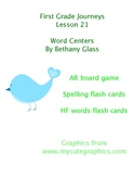 Journeys First Grade Lesson 21 Word Centers