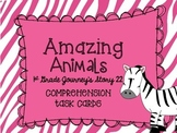Journey's First Grade Lesson 22 Amazing Animals Comprehension Task Cards