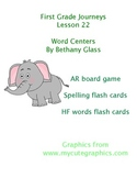 Journeys First Grade Lesson 22 Word Centers