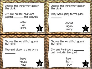 Journey's First Grade Lesson 23 Whistle for Willie Task Cards