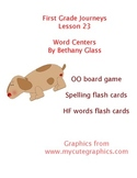 Journeys First Grade Lesson 23 Word Centers