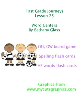 Journeys First Grade Lesson 25 Word Centers