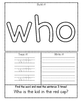 Journeys First Grade Lesson 4 Sight Word Fluency Practice
