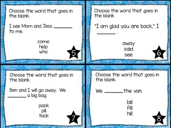 Journey's First Grade Lesson 6 Jack and the Wolf Phonics and Vocab Task Cards