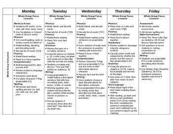 Journeys First Grade Lesson Plans-Unit 2 (2012)