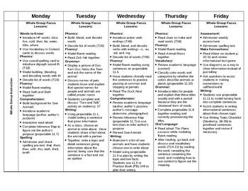 Journeys First Grade Lesson Plans-Unit 3 (2012)