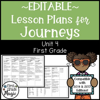 Journeys Lesson Plans First Grade Unit 4 {EDITABLE!}