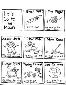 Journeys First Grade: Let's Go to the Moon: Unit 4/Lesson 16 Graphic Organizers