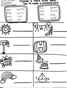 Journeys First Grade: Little Rabbit/Unit 4-Lesson 20/Spelling-Compound Words