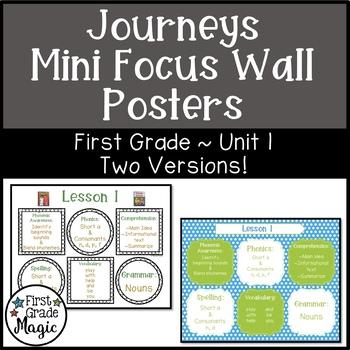 Journeys Grade 1 Focus Wall Worksheets Teaching Resources