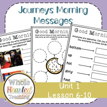 Journeys First Grade Morning Mesages Unit 2