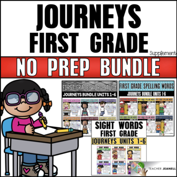 Phonics, Spelling Words and Sight Words BUNDLE (Journeys First Grade Supplement)