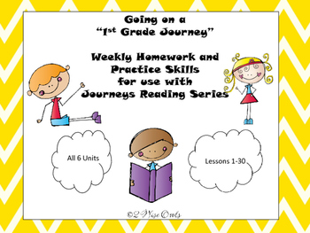 Journeys First Grade Practice Skills Unit 1 Lessons 1-5