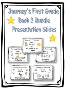 Journey's First Grade Presentation Slides Book 3