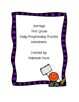 Journeys First Grade- Proofreading Practice (Lessons 1-30)