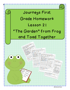 Journeys First Grade Reading Homework Frog and Toad The Ga