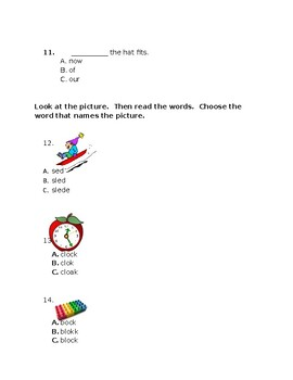 Journeys First Grade Reading Test: A Musical Day
