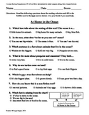 Teacher-Created 1st Grade Reading Test from Journeys, Lesson 11