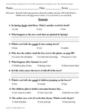 Teacher-Created 1st Grade Reading Test from Journeys, Lesson 13