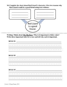 Teacher-Created 1st Grade Reading Test from Journeys, Lesson 14