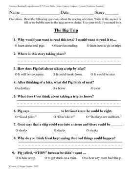 Teacher-Created 1st Grade Reading Test from Journeys, Lesson 17