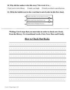 Teacher-Created 1st Grade Reading Test from Journeys, Lesson 19