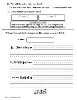 Teacher-Created 1st Grade Reading Test from Journeys, Lesson 21