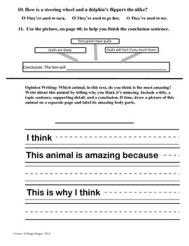 Teacher-Created 1st Grade Reading Test from Journeys, Lesson 22