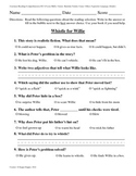 Teacher-Created 1st Grade Reading Test from Journeys, Lesson 23