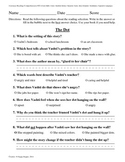 Teacher-Created 1st Grade Reading Test from Journeys, Lesson 26