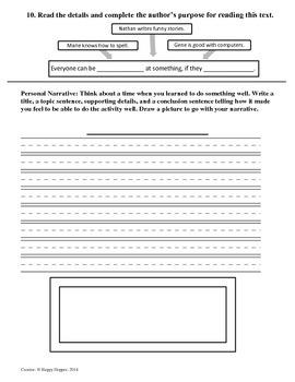 Teacher-Created 1st Grade Reading Test from Journeys, Lesson 27