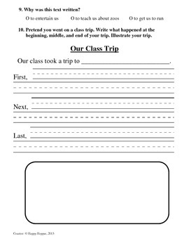 Teacher-Created 1st Grade Reading Test from Journeys, Lesson 5
