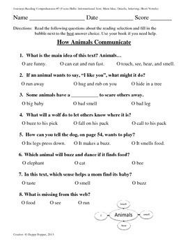 Teacher-Created 1st Grade Reading Test from Journeys, Lesson 7