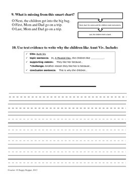 Teacher-Created 1st Grade Reading Test from Journeys, Lesson 8