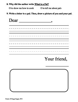 Teacher-Created 1st Grade Reading Test from Journeys, lesson 1